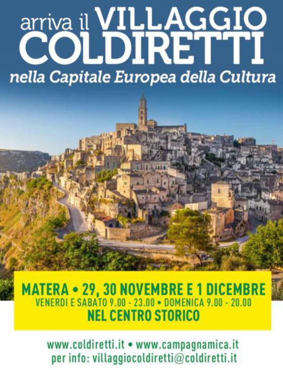 Mocavero al Villaggio di Coldiretti a Matera